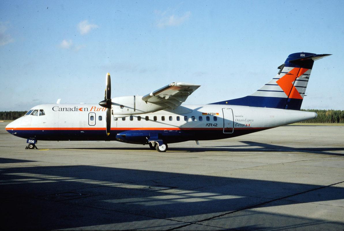 Ontario Express - Canadian Partner, ATR42-300 C-FTCP (TXL ca. 12/1990)