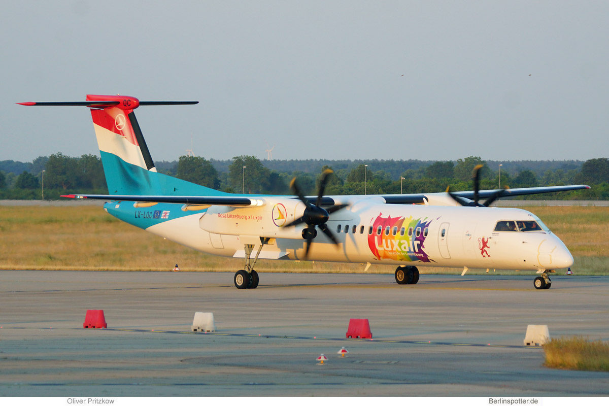 Luxair, Bombardier Q400 LX-LQC, be pride, be Luxembourg (BER 18.6.2021)