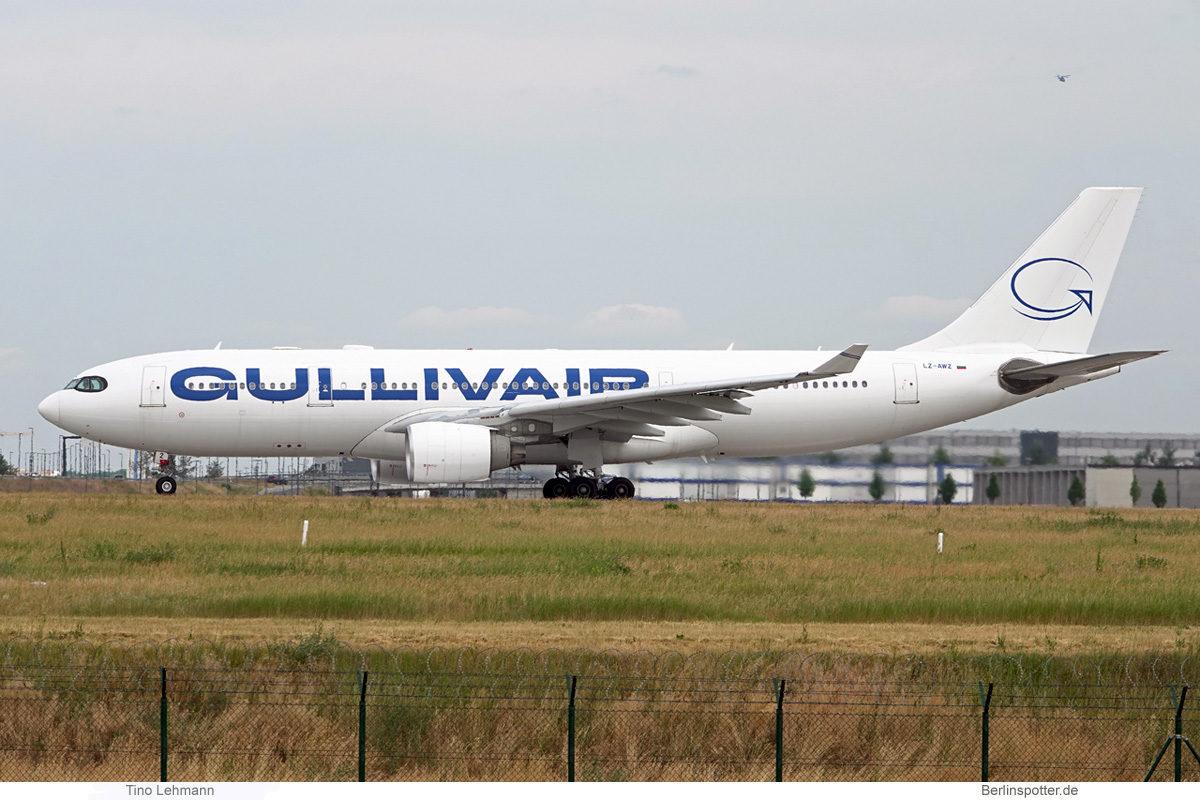 GullivAir, Airbus A330-200 LZ-AWZ (BER 23.6.2021)