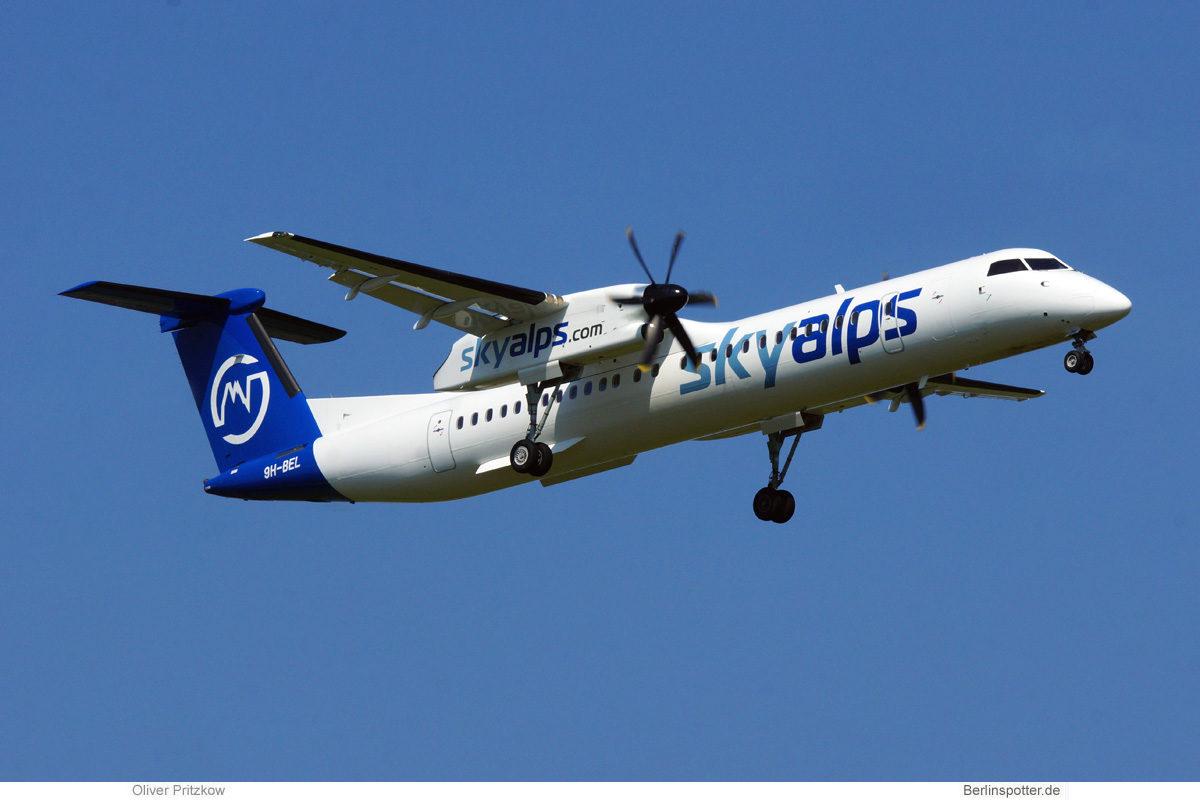 SkyAlps, Bombardier Q400 9H-BEL (BER 11.7.2021)