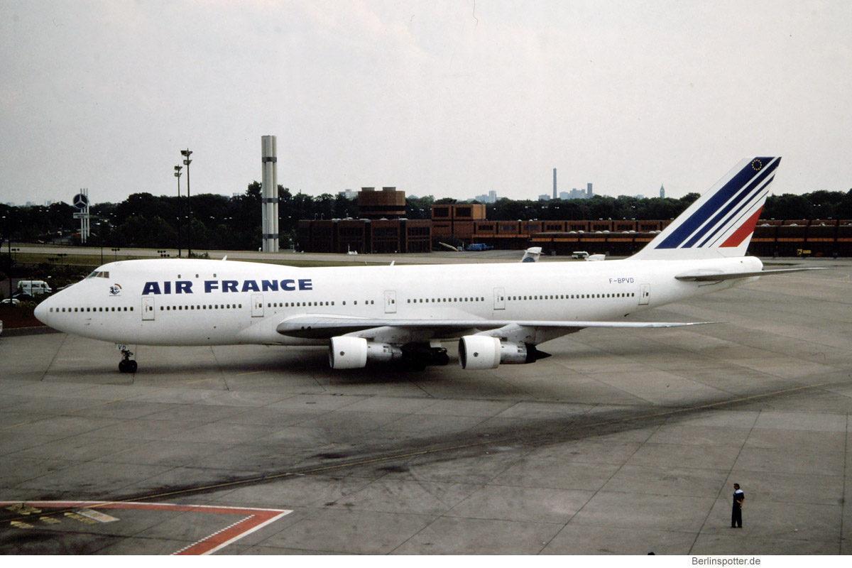 Air France, Boeing 747-100 F-BPVD (TXL 13.5.1990)