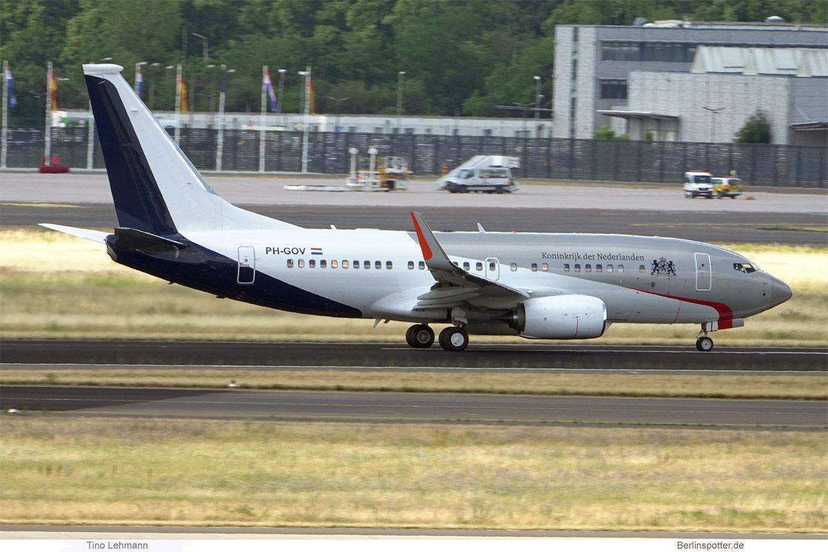 Government of the Netherlands, Boeing 737-700(BBJ) PH-GOV (BER 7.7.2021)