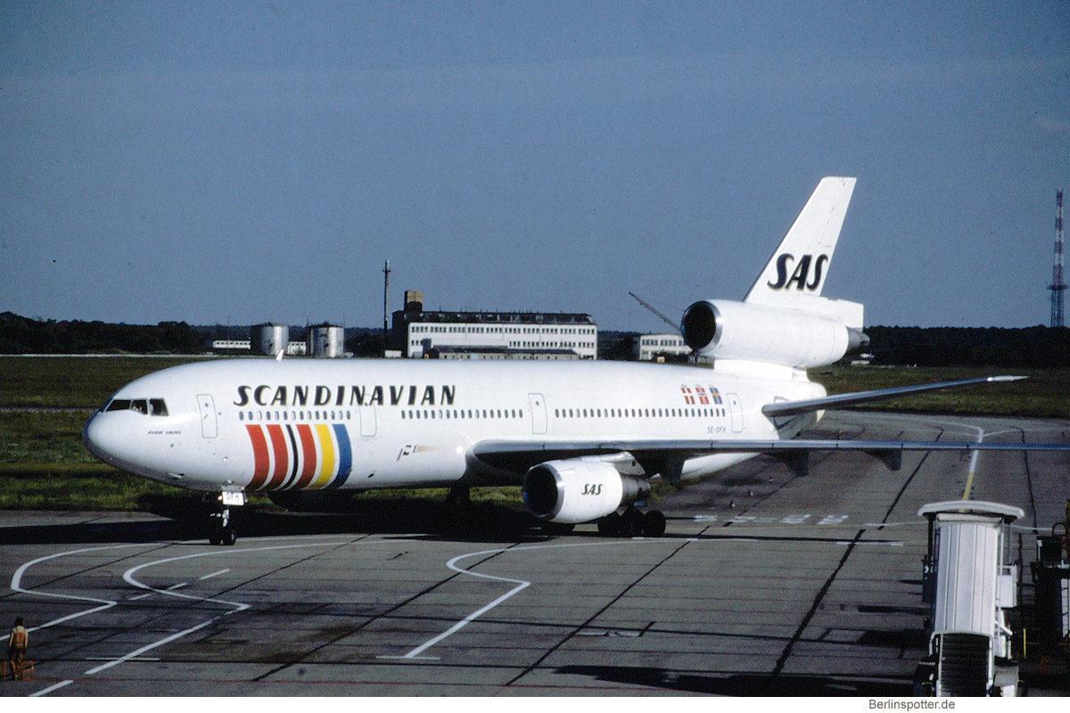 SAS Scandinavian Airlines, McDonnell-Douglas DC-10-30 SE-DFH (SXF 21.7.1990)
