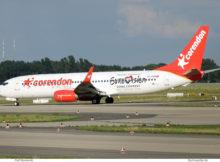Corendon Airlines, Boeing 737-800(WL) TC-COH, Eurowvision-Sticker (BER 8.8.2021)