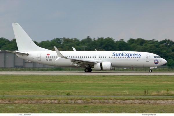 SunExpress, Boeing 737-800(WL) TC-SPF (BER 5.8.2021)
