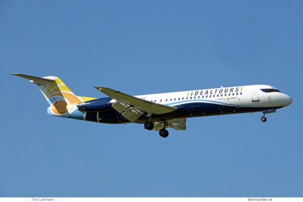 Trade Air, Fokker 100 9A-BTE, operated for Idealtours (BER 8.9.2021)