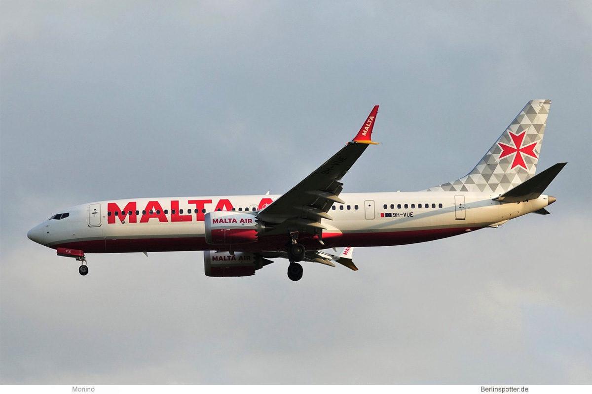 Malta Air, Boeing 737-8 MAX 200 9H-VUE (BER 5.9.2021)