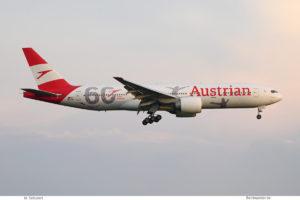 "Austrian Airlines, Boeing 777-200ER OE-LPF ""60 Jahre Austrian"" (BER 10.9.2021)"