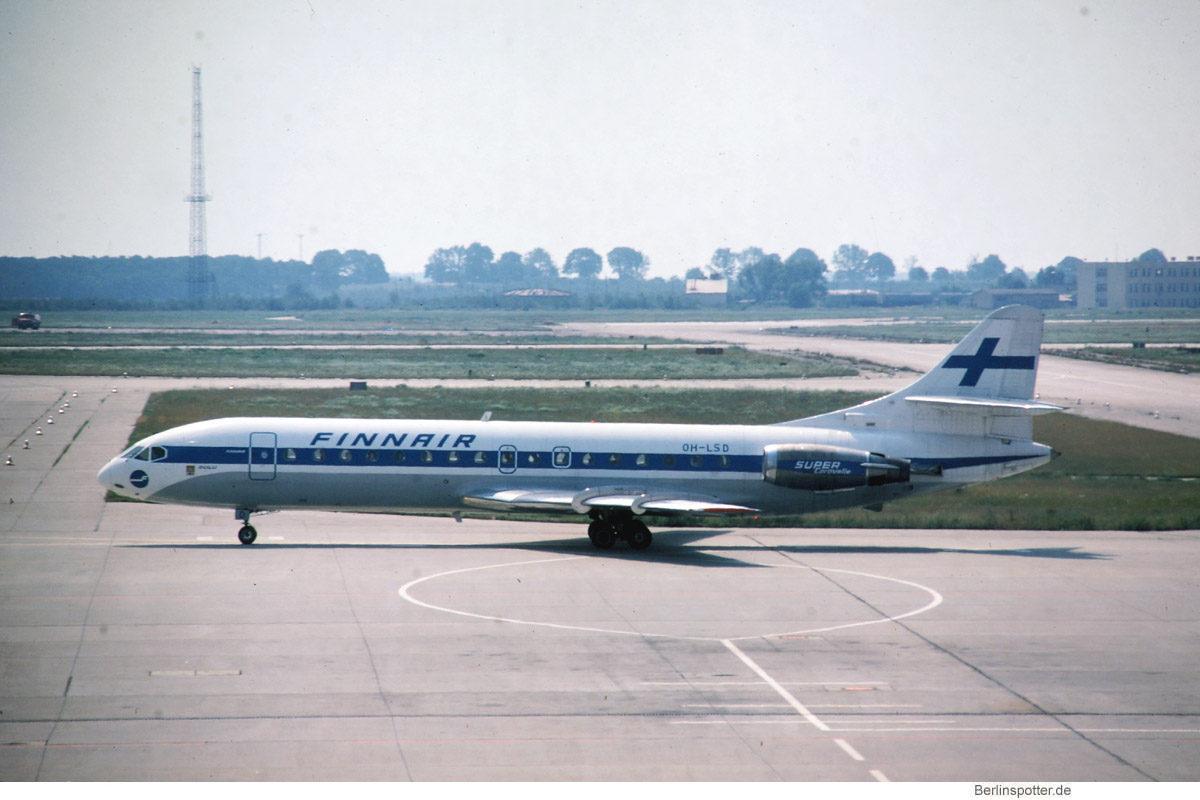 Finnair, SE-210 Caravelle 10B3 OH-LSD (SXF 30.7.1978)